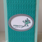 Christmas Card Blender pens video stampin