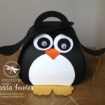 cute penguin stampinup curvy keepsake box Amanda Fowler Inspiring Inkin
