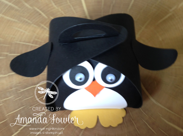 cute penguin made from stampin up curvy keepsake box 2