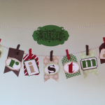 Merry Christmas Tag Banner Stampin