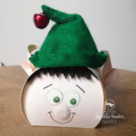 Cute Christmas Elf Curvy Keepsake Box die