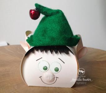 Stampin' Up! UK Christmas elf using curvy keepsake die