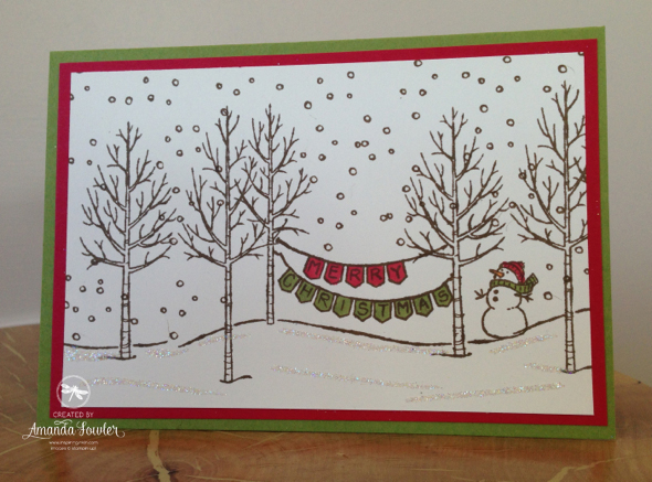 Stampin up UK White Christmas card made at inspiring Inkin Card making Classes
