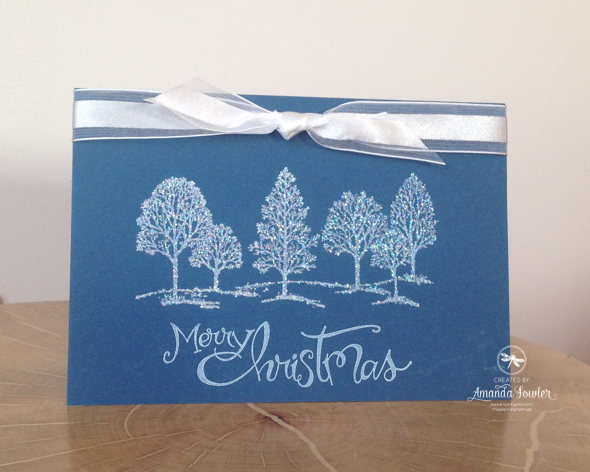 Lovely as a Tree Quick and Wow Christmas Card Stampin' Up! UK