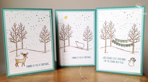 Stampin up UK White Christmas
