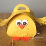 Curvy Keepsake box easter chick Stampin
