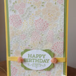 Embossed Vellum Card stampin up uk amanda fowler inspiring inkin birthday card