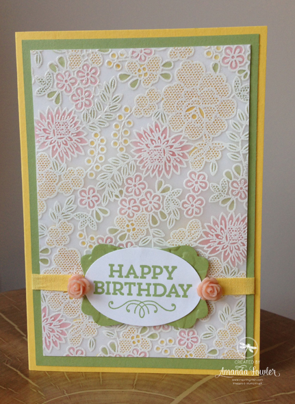 Something Lacy Heat embossed Vellum Card and Video
