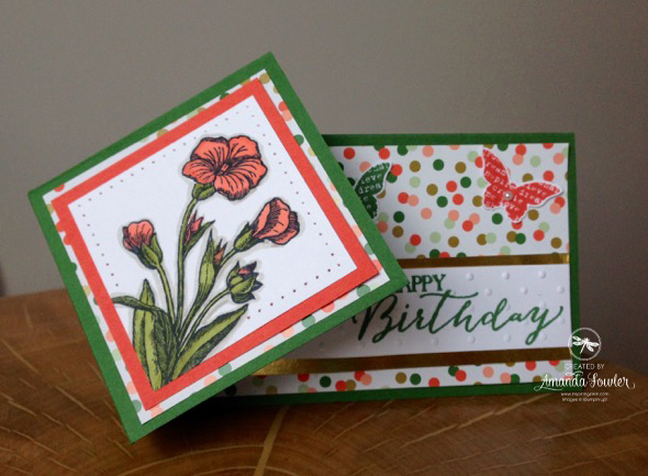 Butterfly basics Stampin' Up! card by Amanda Fowler of Inspiring Inkin'