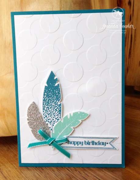 Double Reverse Embossed Card by Amanda Fowler of Inspiring Inkin'