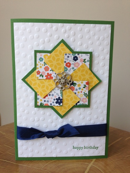 Layered Pinwheel card by Amanda Fowler of Inspiring Inkin'