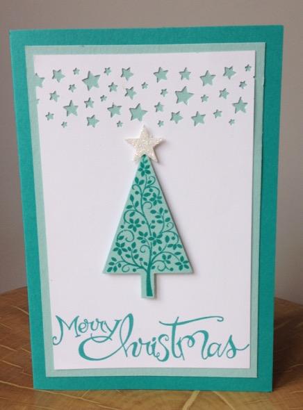 Festival of Tress Christmas card by Amanda Fowler of Inspiring Inkin'