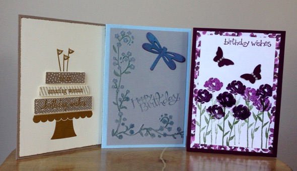 Amanda Fowler Stampin' Up! birthday cards - 1