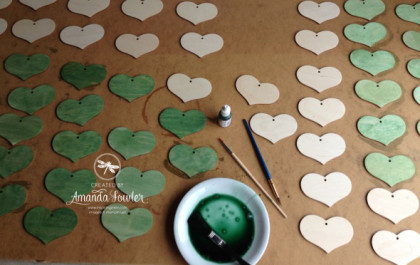 3D wooden Heart by Amanda Fowler of Inspiring Inkin' using Stampin' Up! products.