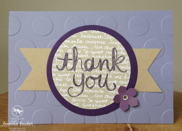 Stampin' Up! Uk Thank you card