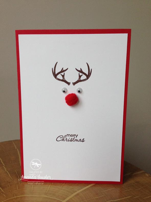 Rudolph card by Inspiring inkin'