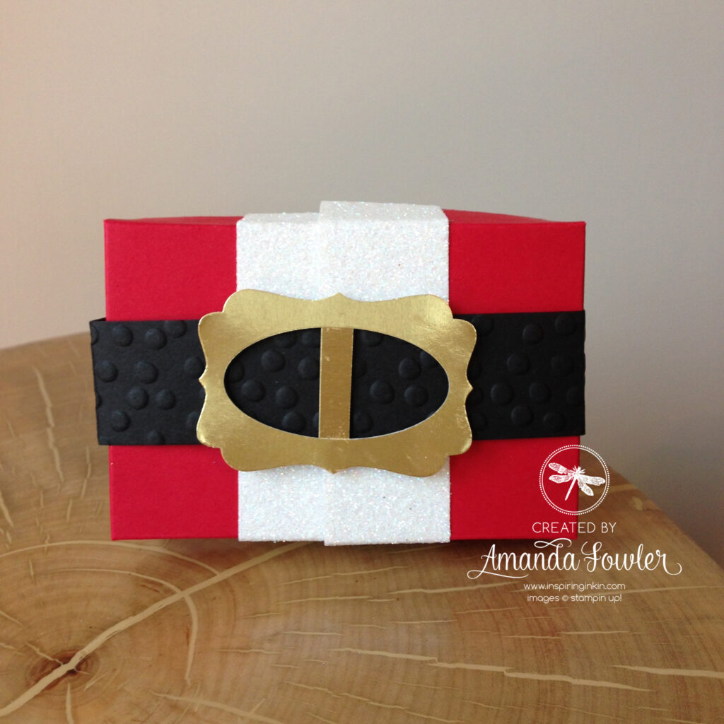 Santa Gift Card Box by Amanda Fowler of Inspiring Inkin'