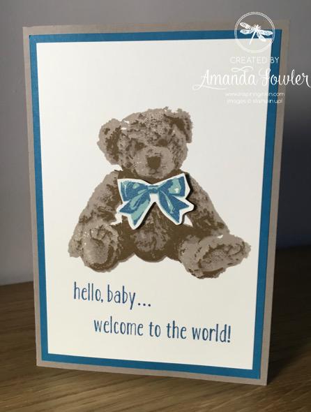 Inspiring Inkin' Baby bear Amanda Fowler Stampin' Up! UK