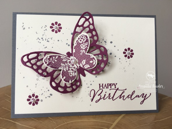 Butterfly basics Card Inspiring inkin stampin' up! UK