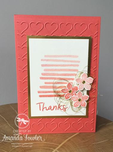 Playful Backgrounds Ombre Card Inspiring Inkin' Amanda Fowler Stampin' Up! UK