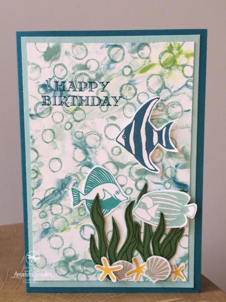 Seaside Card Inspiring Inkin' Amanda Fowler Stampin' Up! UK