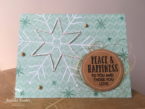 Stitched with Cheer Inspiring Inkin' Amanda Fowler Stampin' Up! UK