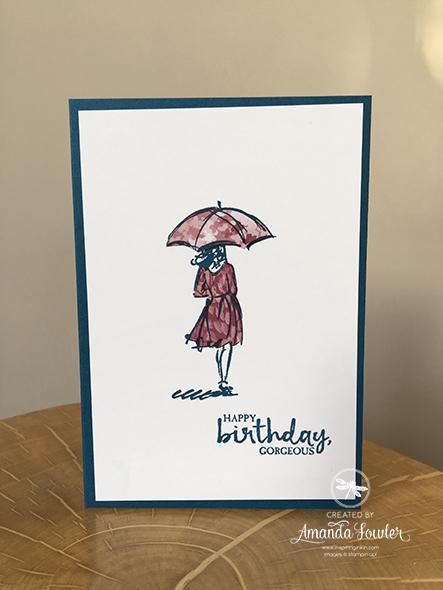 Beautiful You Paper Piecing Stampin' Up! UK Amanda Fowler Inspiring Inkin'