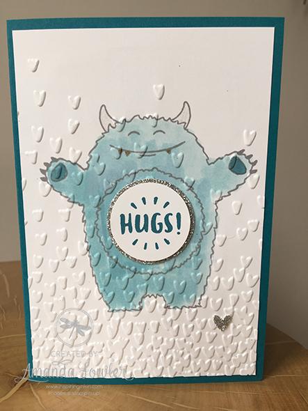 Yummy in my Tummy, Stampin'Up! UK, Spring Summer Catalogue 2017, card, handstamped, Amanda Fowler, Inspiring Inkin', #inspiringinkin