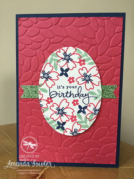 Love and Affection Card Stampin' Up! Uk Inspiring Inkin' with Amanda Fowler