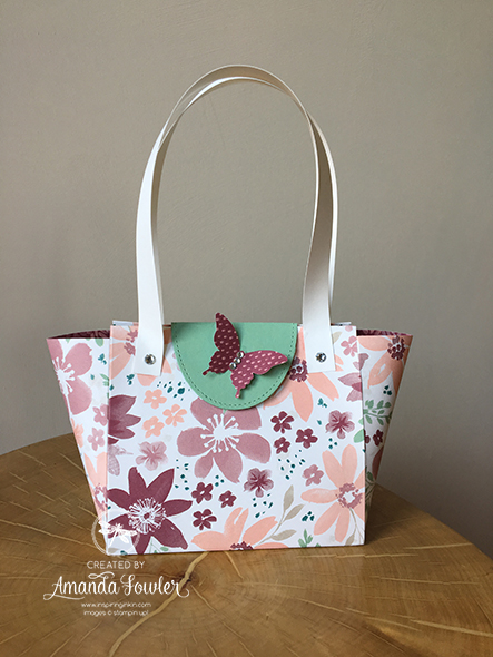 Pretty Paper Handbag Video Inspiring Inkin' Amanda Fowler Stampin' Up! UK