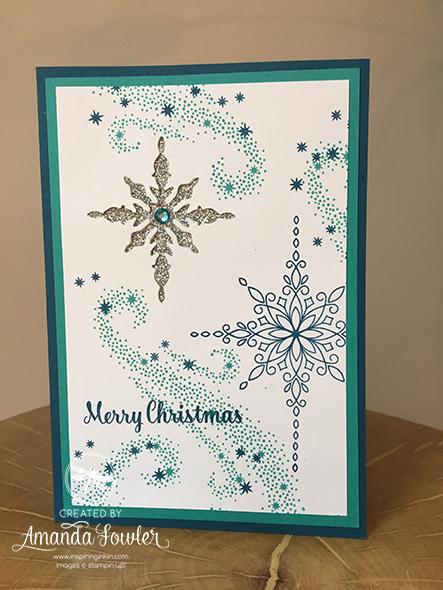 Star Of Light Card Christmas Card Inspiring Inkin Amanda Fowler Stampin' Up! UK