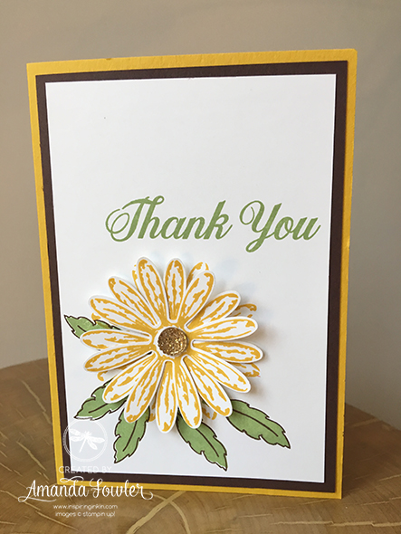Daisy Delight Card Inspiring Inkin Amanda Fowler Stampin' Up! UK