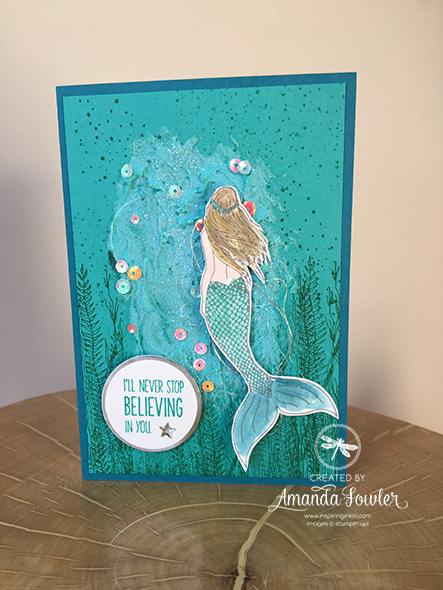 Magicial Mermaid Card Stampin' Up! Uk Amanda Fowler Inspiring Inkin'