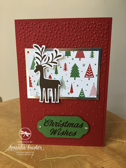 Merry Mistletoe Christmas Card Stampin' Up! UK Amanda Fowler Inspiring Inkin'
