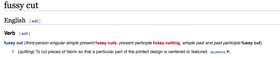 Fussy cutting definition