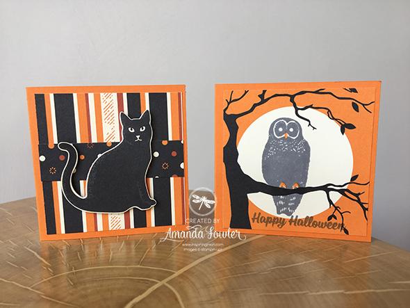 Cat Punch Halloween Inspiring inkin Amanda Fowler Stampin' Up! UK