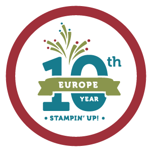 10th birthday Stampin Up! UK Amanda Fowler Inspiring inkin'