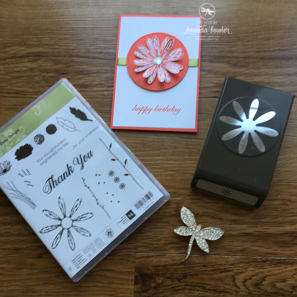 Daisy Delight Stampin' Up! UK Inspiring Inkin' Amanda Fowler Birthday Card