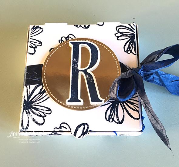 Onstage Team Gifts Stampin' Up! UK Amanda Fowler Inspiring Inkin' Large Letters Framelit dies