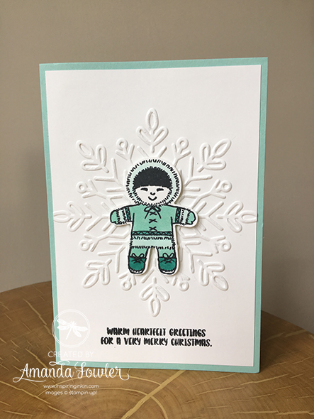 Inspiring Inkin' Eskimo Christmas Card Stampin' Up! UK Blends Amanda Fowler
