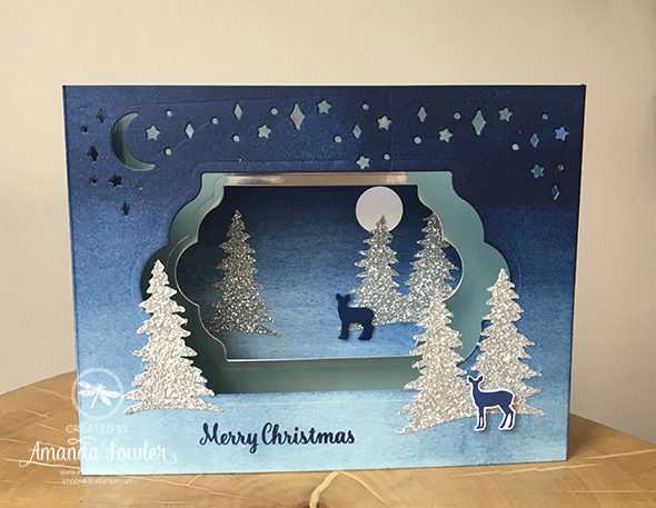 Christmas Carol Stampin' Up! UK Video Diarama Card Amanda Fowler Inspiring Inkin'