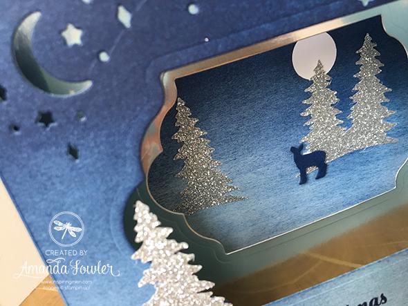 Carols of Christmas Stampin' Up! UK Video Diorama Card Amanda Fowler Inspiring Inkin'