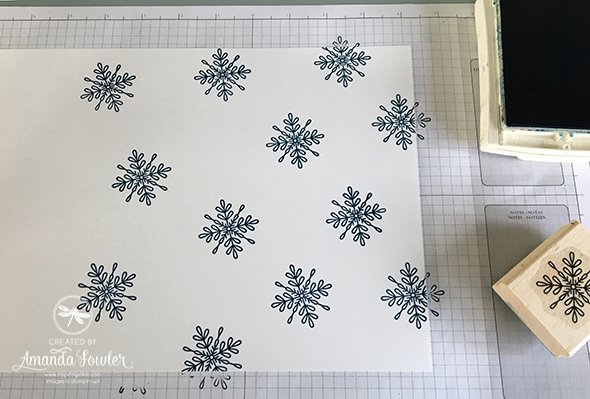 Quick Christmas Card Stampin' Up! UK Amanda Fowler Inspiring Inkin' Snowflake Sentiments