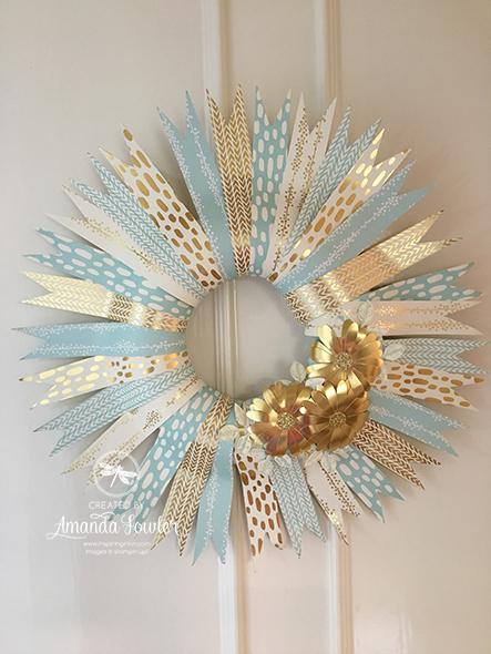 Christmas Inspiring Inkin' Quick Paper Wreath Amanda fowler Stampin' Up! UK