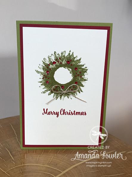 Painted Harvest Sunflower Christmas Wreath Stampin' Up! UK Amanda Fowler Inspiring Inkin