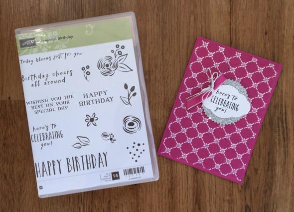 Inspiring Inkin Amanda fowler Stampin' Up! UK Perennial Birthday