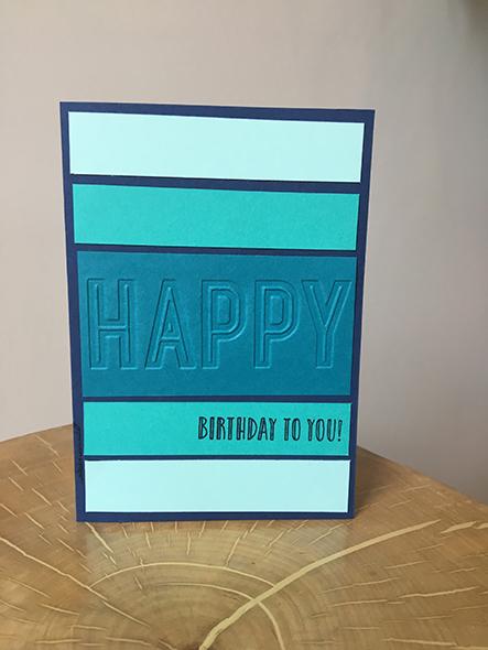Happy Celebrations Stampin' Up! UK Inspiring Inkin Amanda Fowler Birthday Card