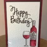 Half Full Birthday Card Stampin