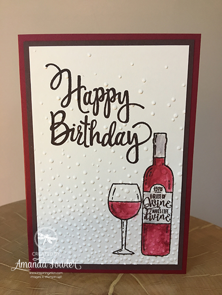 Half Full Birthday Card Stampin' Up! Uk Inspiring Inkin Amanda Fowler