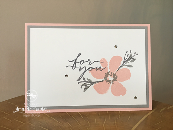 Blooms and Wishes Stampin' Up! UK Inspiring Inkin' Amanda Fowler